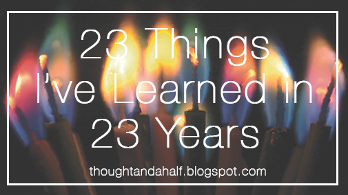 23 things learned in 23 years
