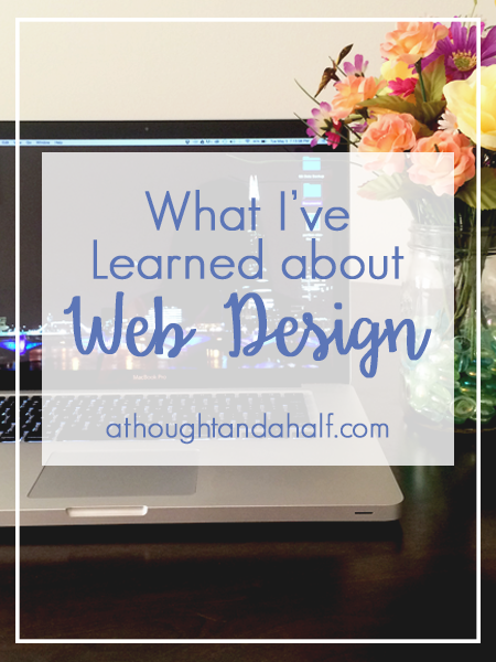 what i learned about web design