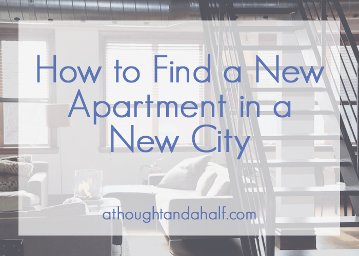 how to find a new apartment in a new city