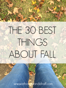 30 best things about fall