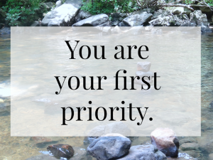 you are your first priority quote | a thought and a half blog