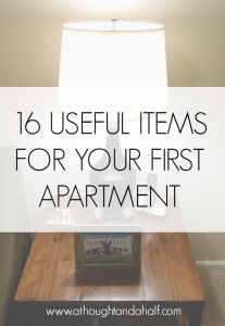 16 useful items for your first apartment