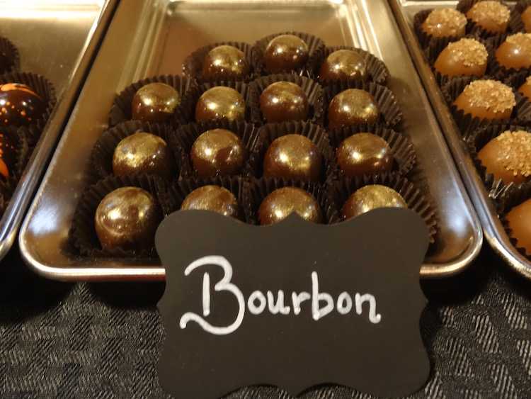blushing berry bourbon chocolate truffles
