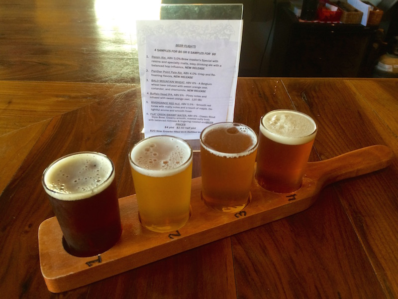 morgan ridge winery beer flight