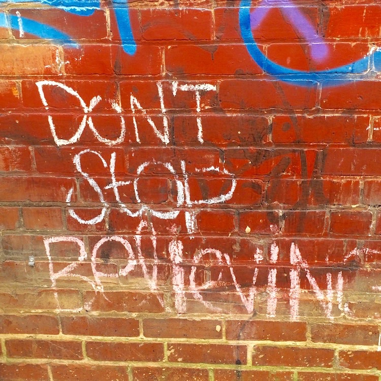 don't stop believing street art