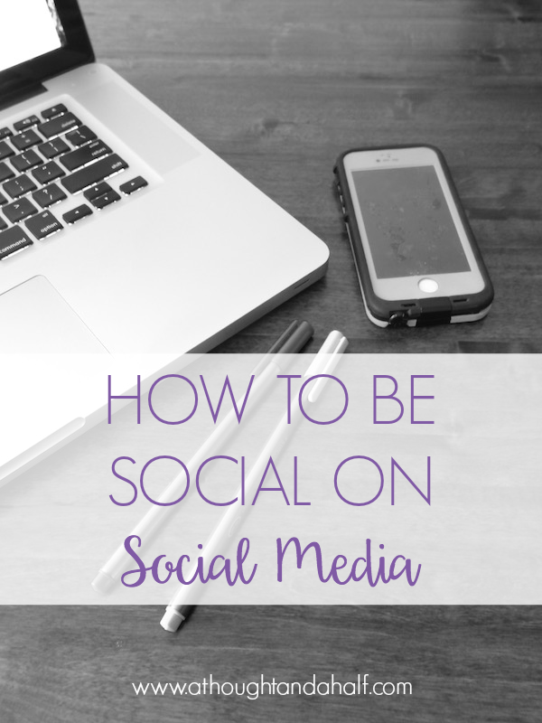 how to be social on social media