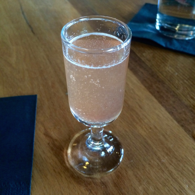 strawberry thyme sparkling wine food tour
