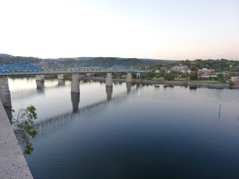 view of river from hunter art museum chattanooga