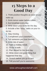 15 steps to a good day