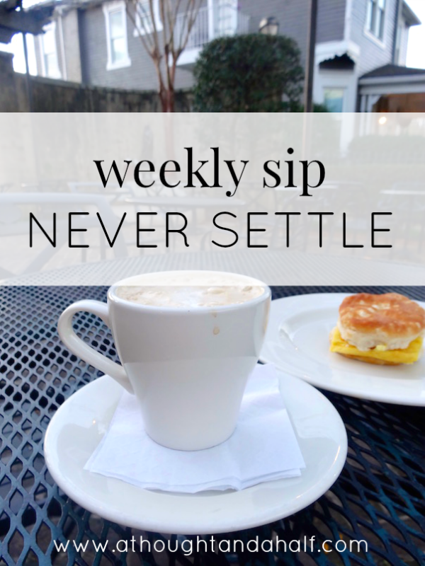 weekly sip never settle