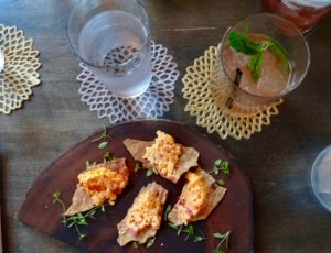 easy bistro pimiento cheese plate