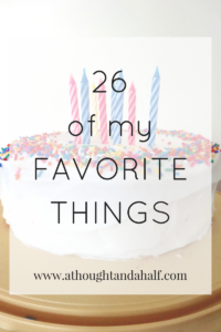 26 favorite things birthday