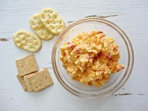pimiento cheese with crackers