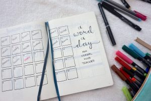 bullet journal word a day