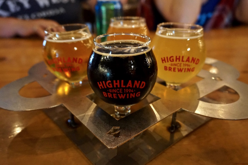 highland brewing flight asheville