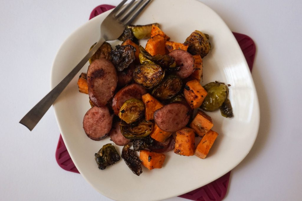 sausage veggie sheet pan dinner