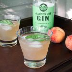 getting peachy with it gin cocktail knox whiskey works