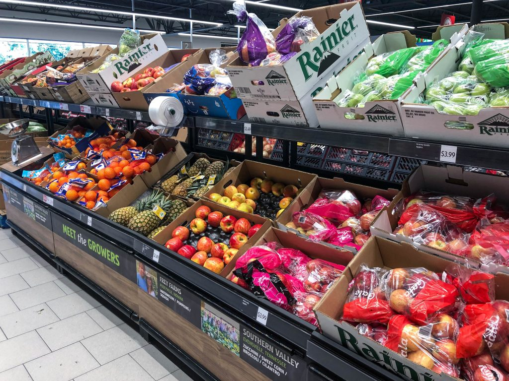 fruits produce shop at aldi