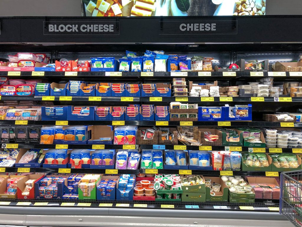 aldi cheese section