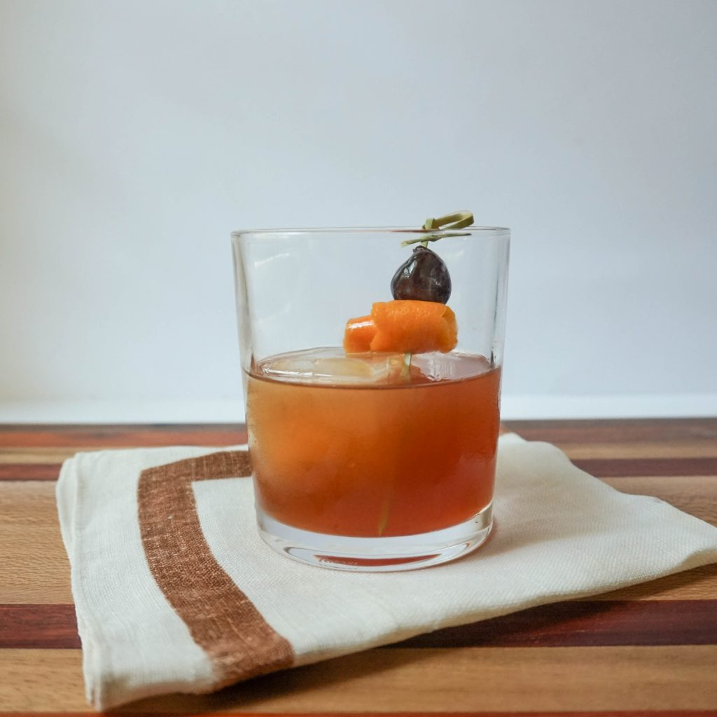 spiced old fashioned cocktail
