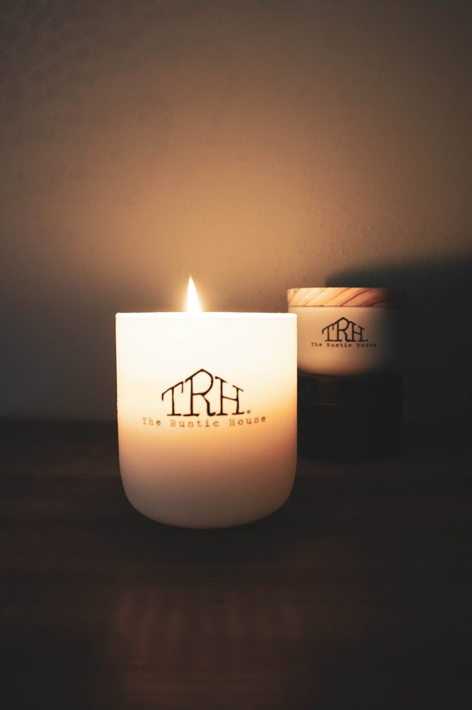 rustic house candle