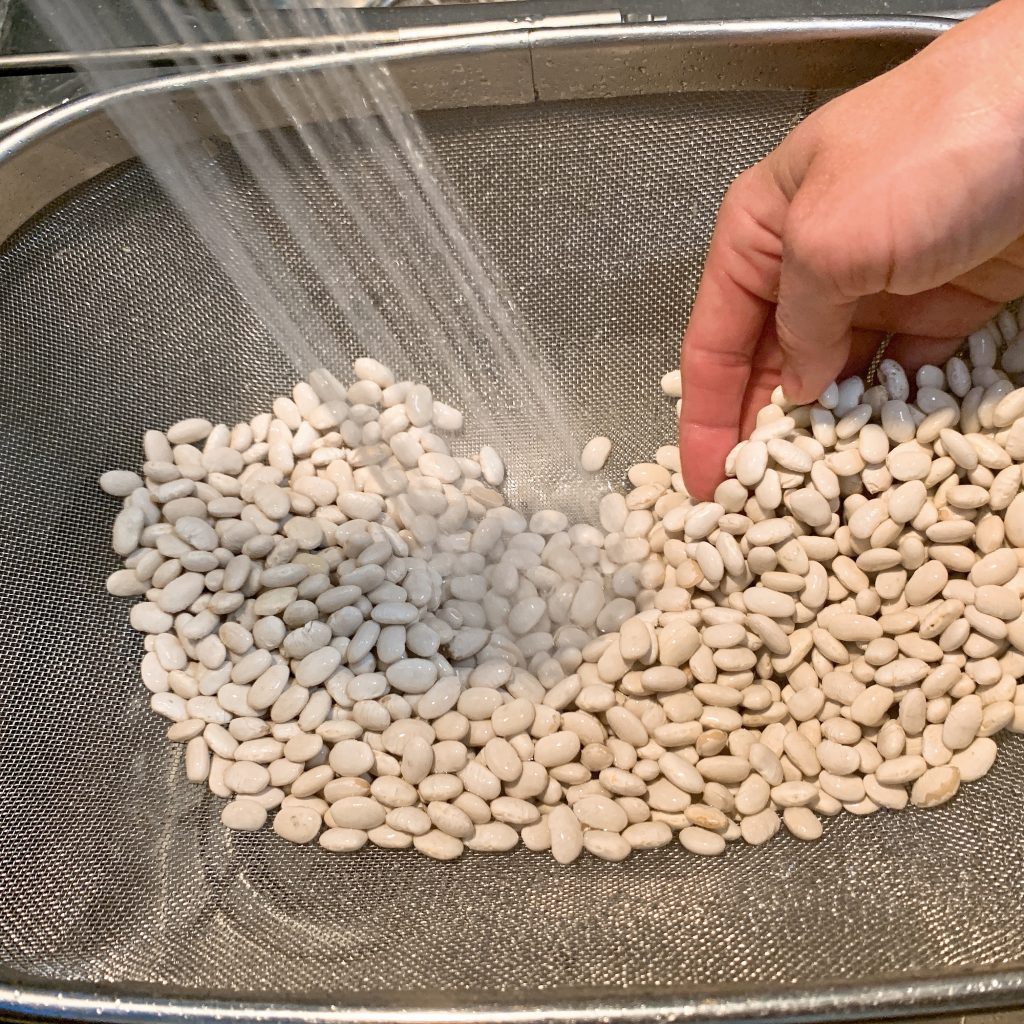 how to cook beans rinsing