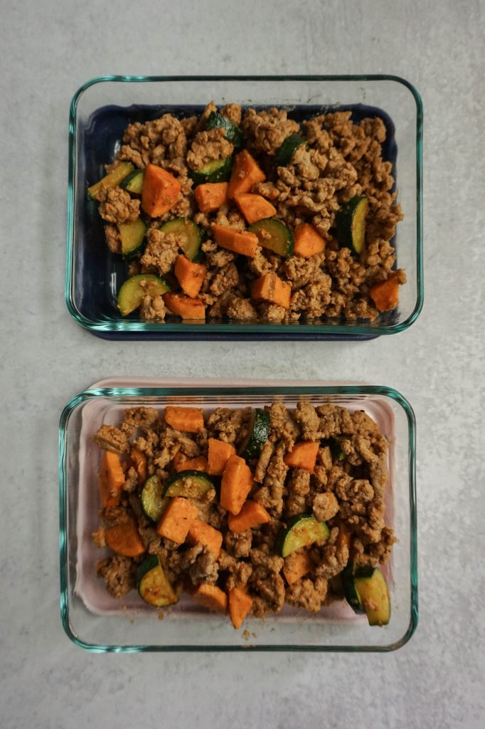 veggie turkey meal prep