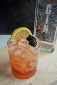 old dominick distillery gin bramble cocktail