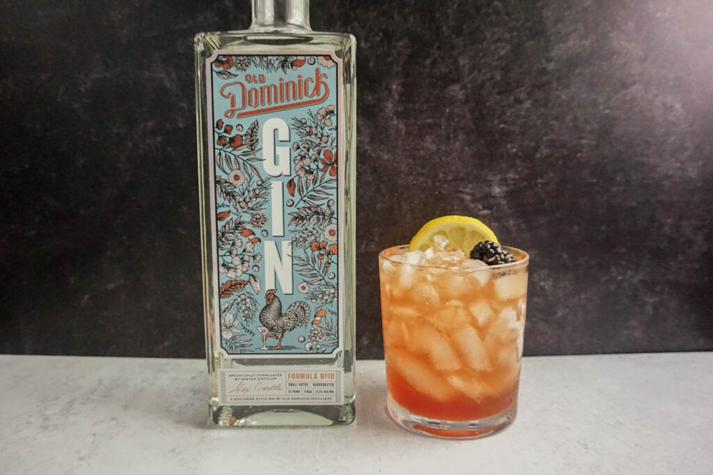 old dominick gin bramble cocktail