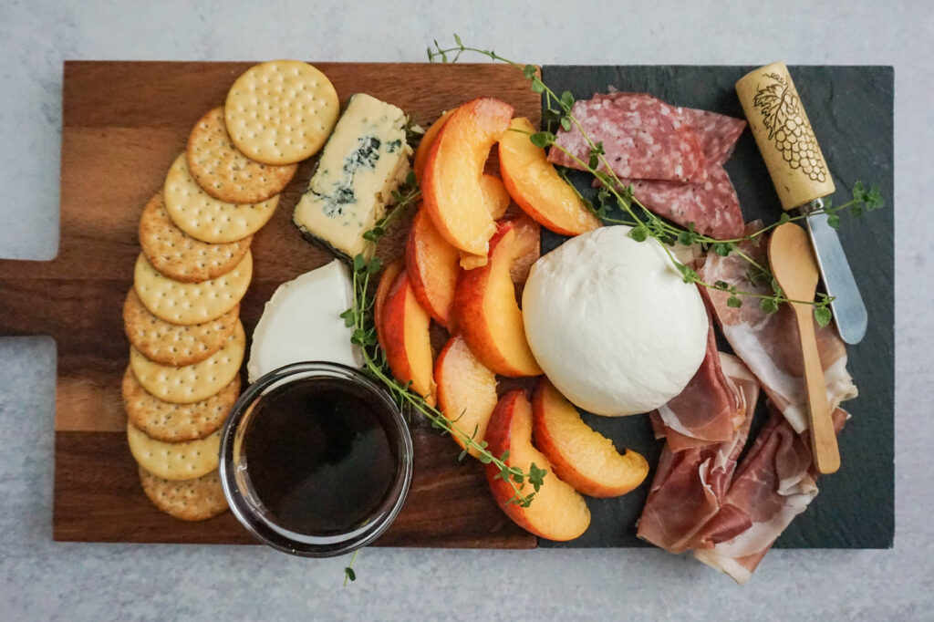 peach cheese board