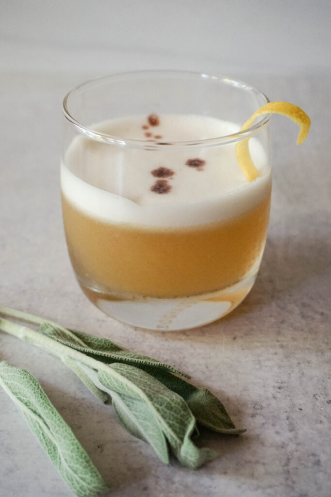 sage bourbon sour cocktail recipe