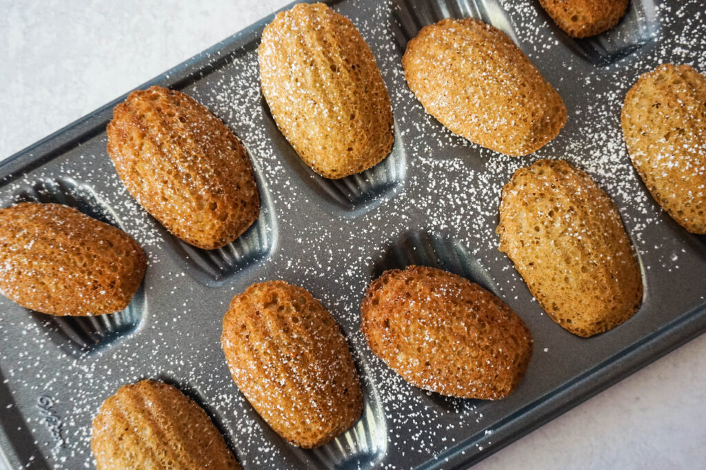 browned butter chai madeleines