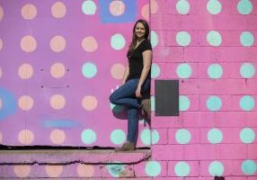 kate polka dot wall photo spots in chattanooga