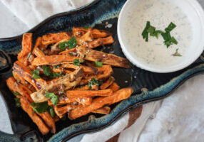 baked sweet potato fries herby ranch